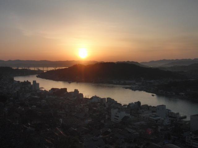 尾道の朝焼け(日の出)