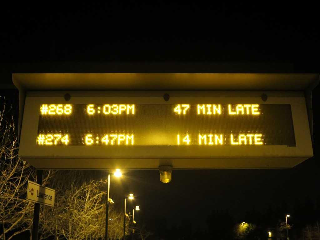 カルトレイン 「47分遅れ」