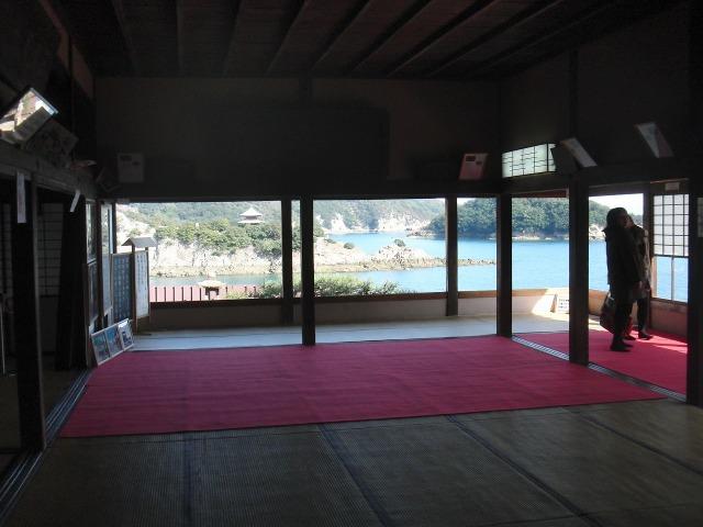 日東第一形勝 - 福禅寺・対潮楼の室内(座敷)からの海の眺め