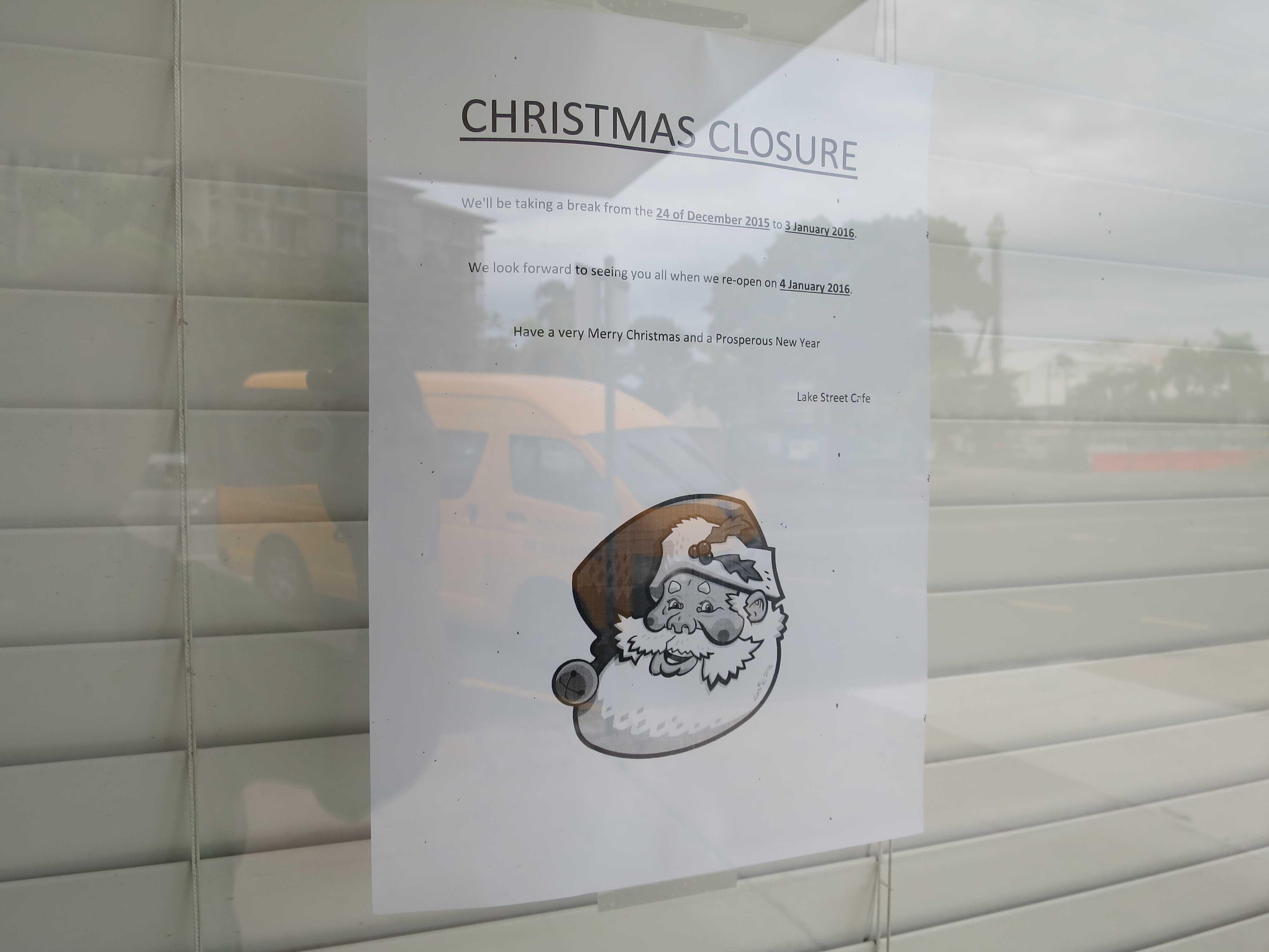 12月25日クリスマス、ケアンズの街はゴーストタウン