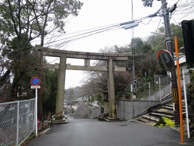 京都東山の鳥居