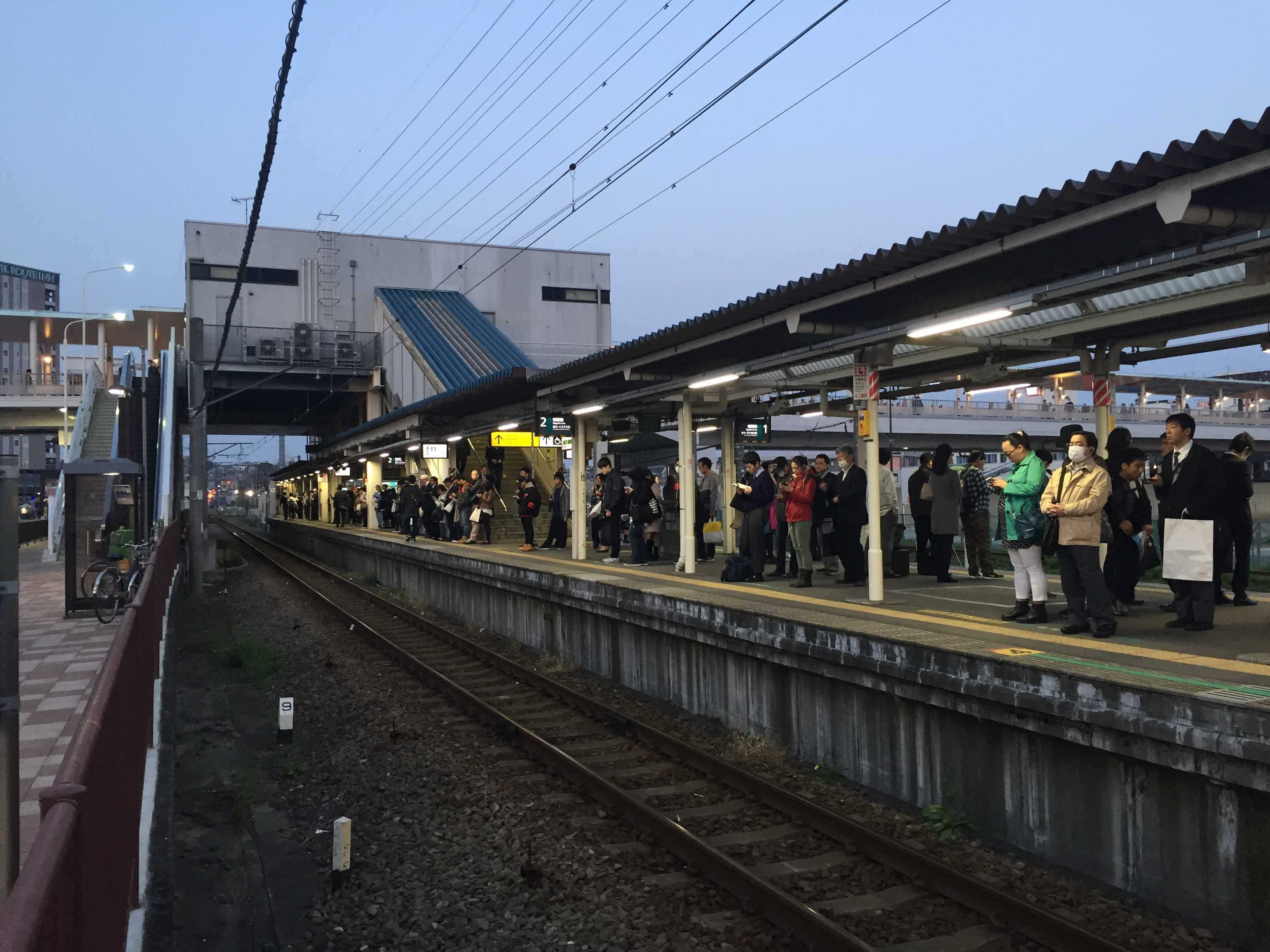 JR海老名駅の相模線のホーム