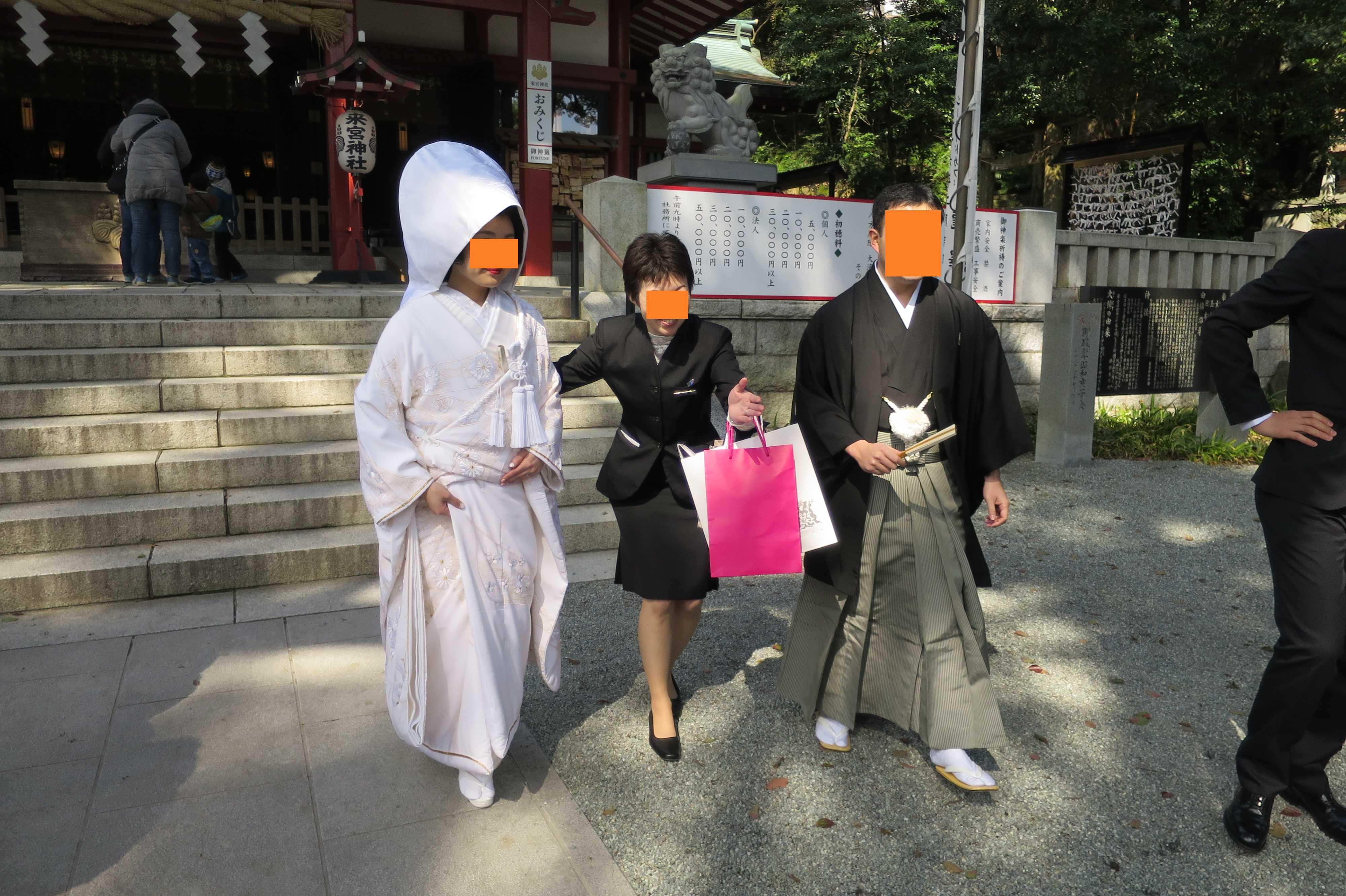 熱海・来宮神社 - 白無垢花嫁衣装