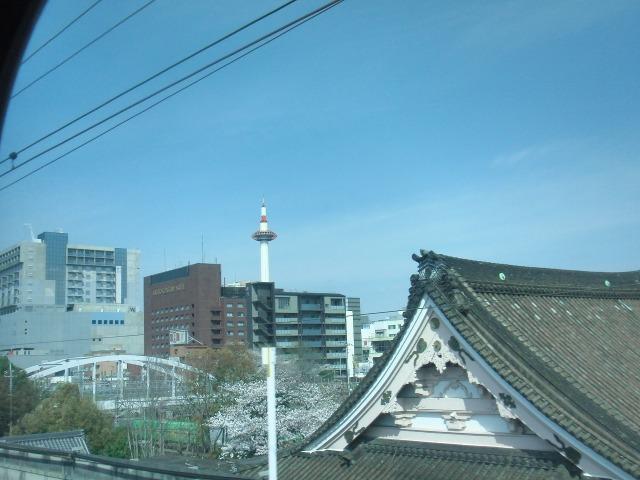 JR京都駅にまもなく到着