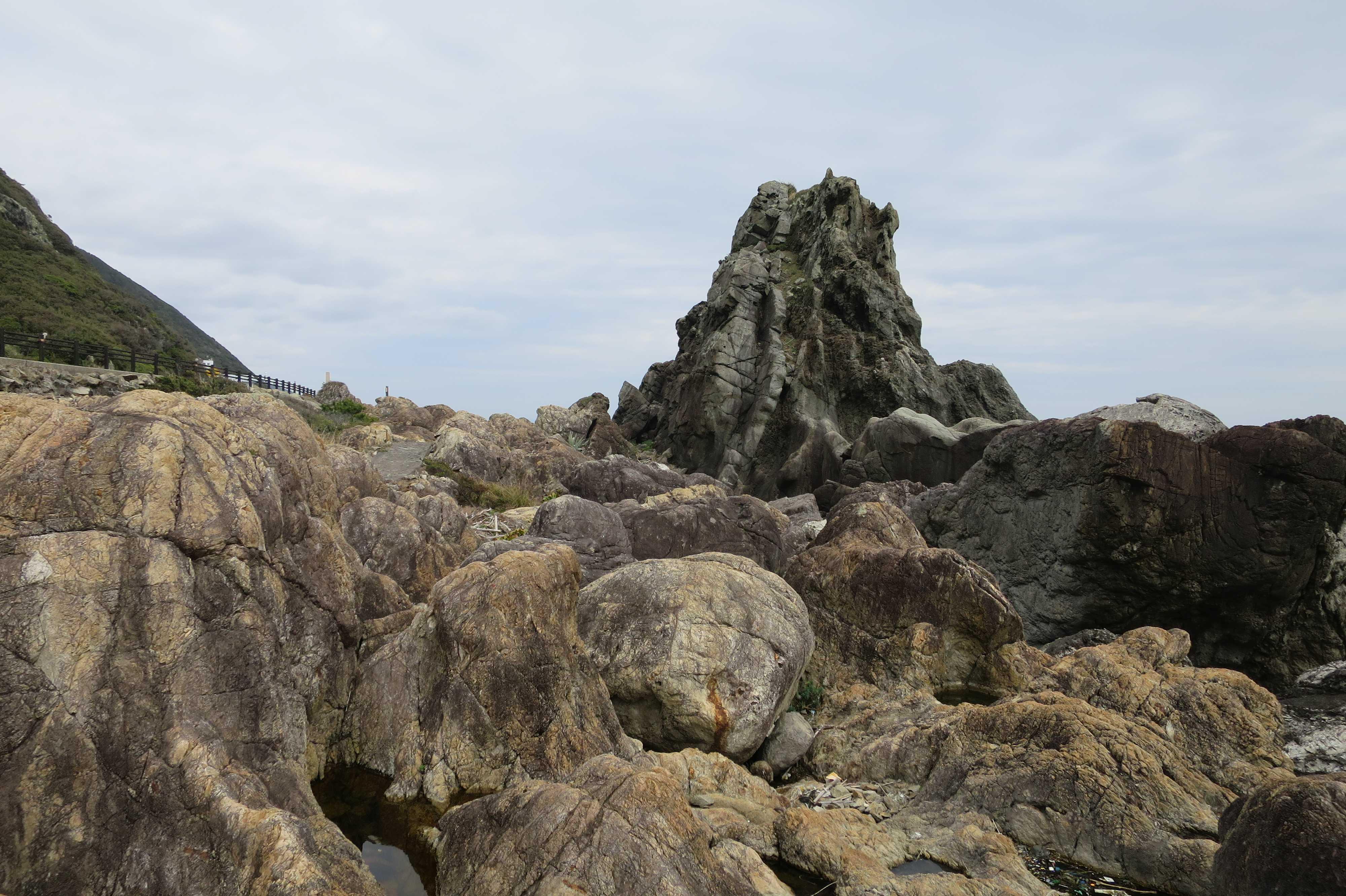 ビシャゴ岩 - 室戸岬 乱礁遊歩道
