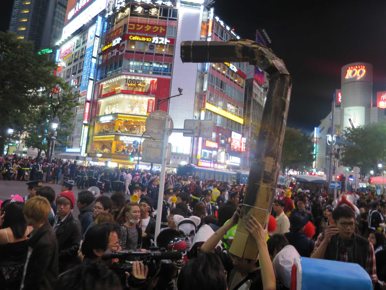 渋谷ハロウィン - 煙突