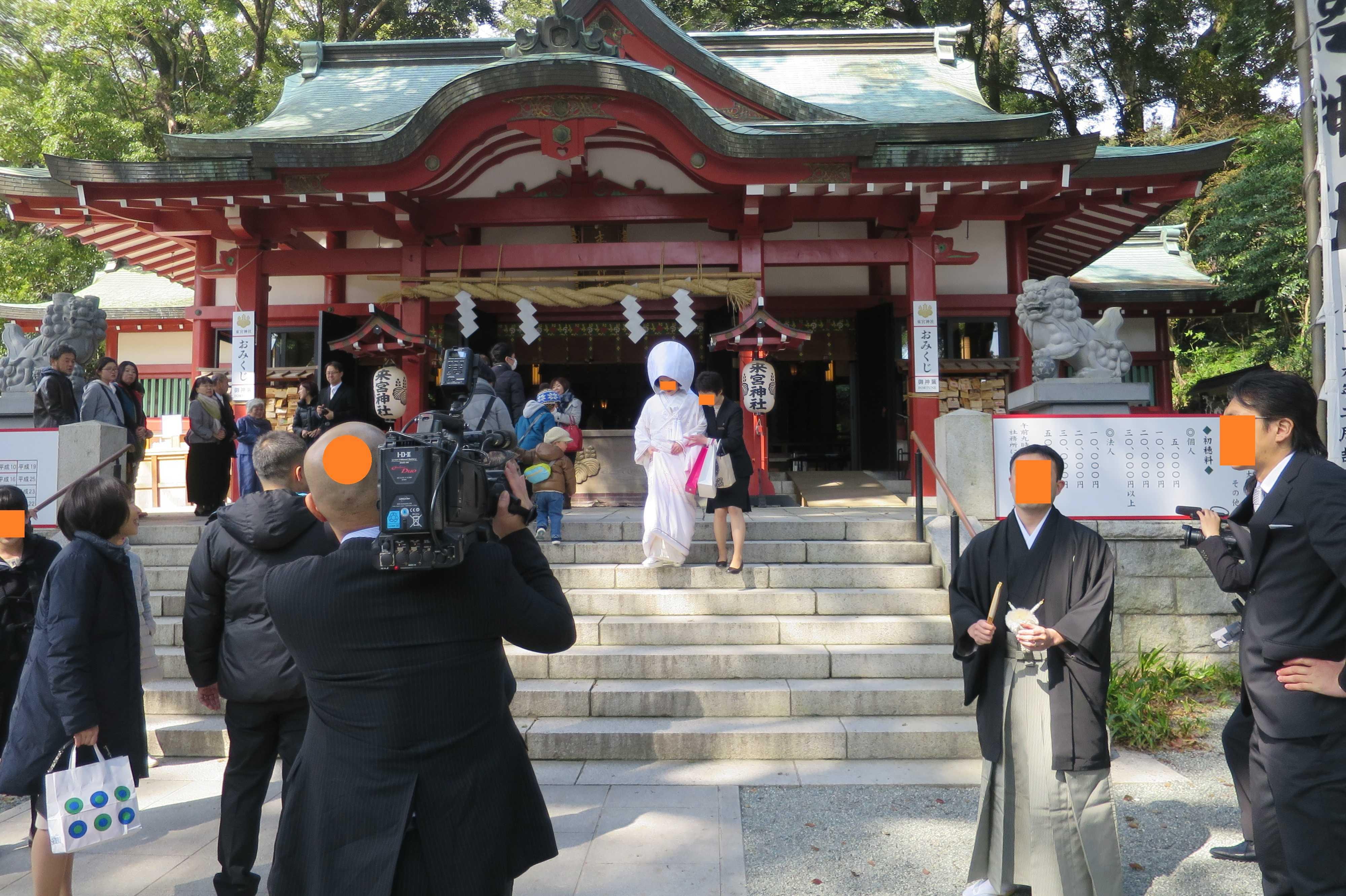 熱海・来宮神社 - 白無垢花嫁衣装の花嫁さん