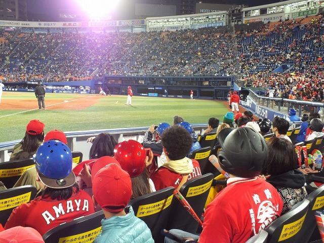横浜スタジアム・エキサイティングシートからの眺め