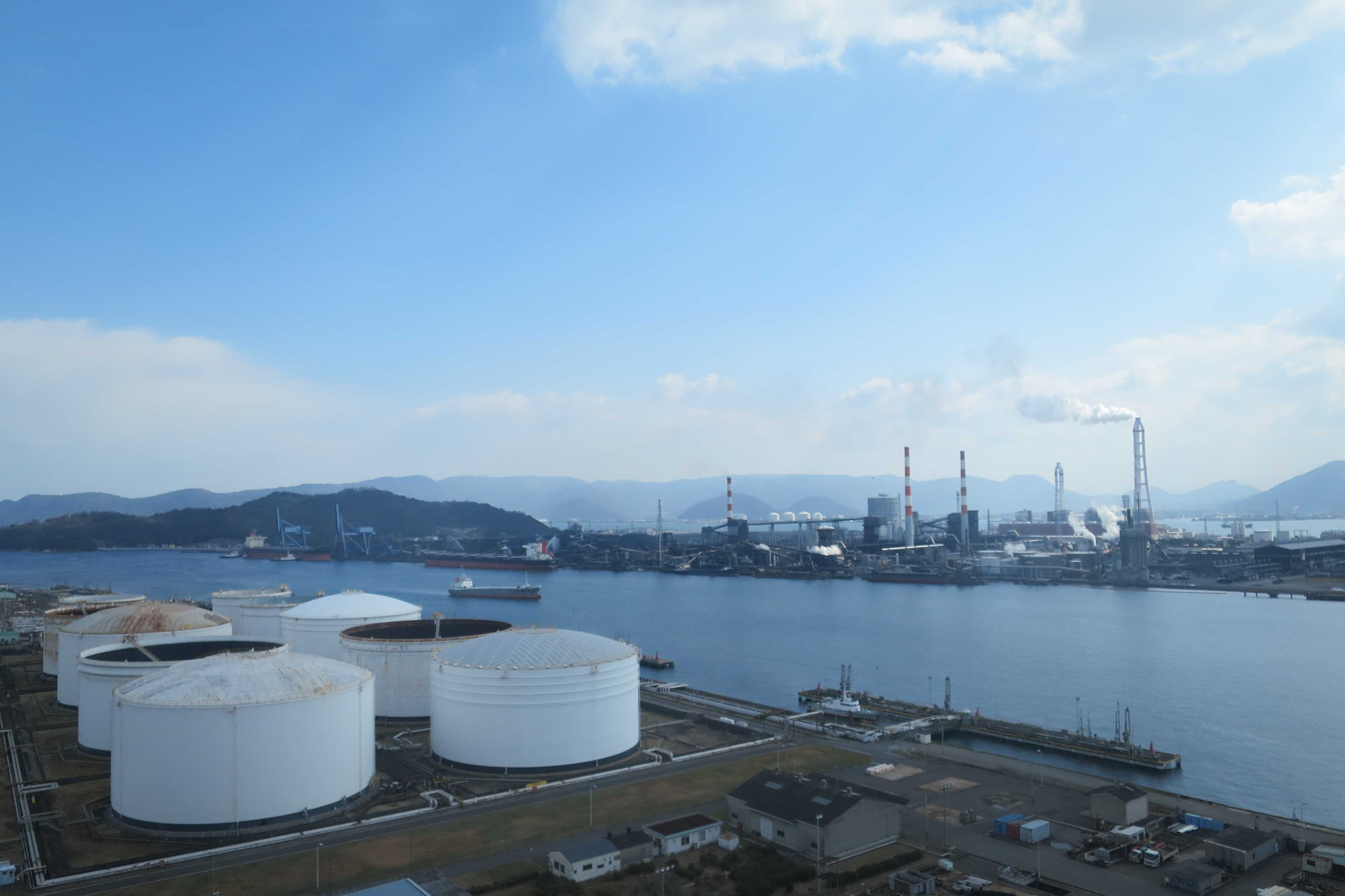 香川県随一の大型コンビナート工業団地 番の州臨海工業団地