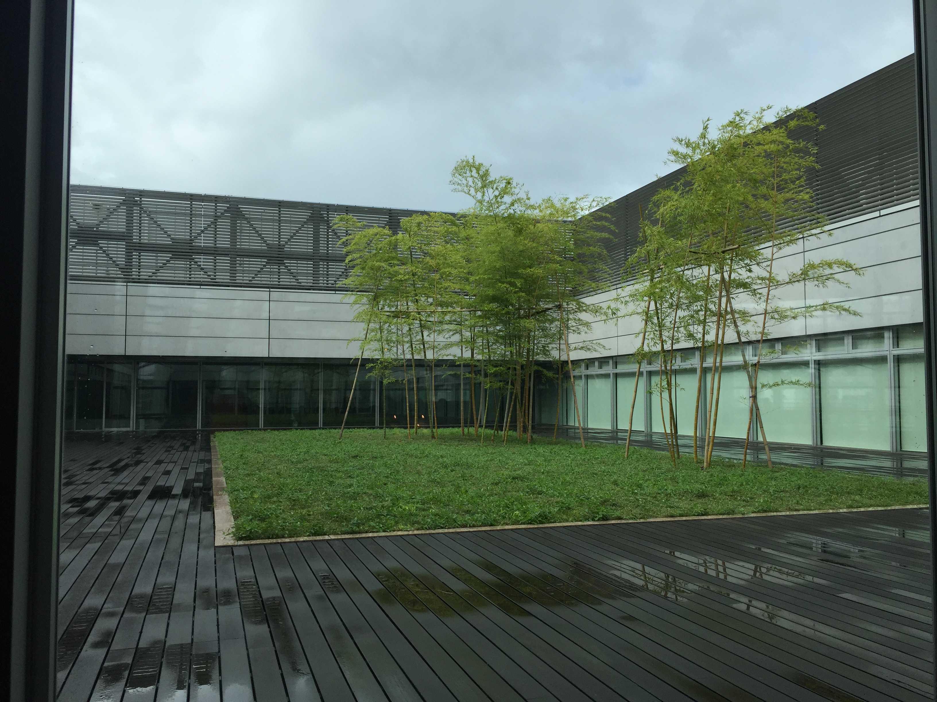 国立新美術館の屋上中庭