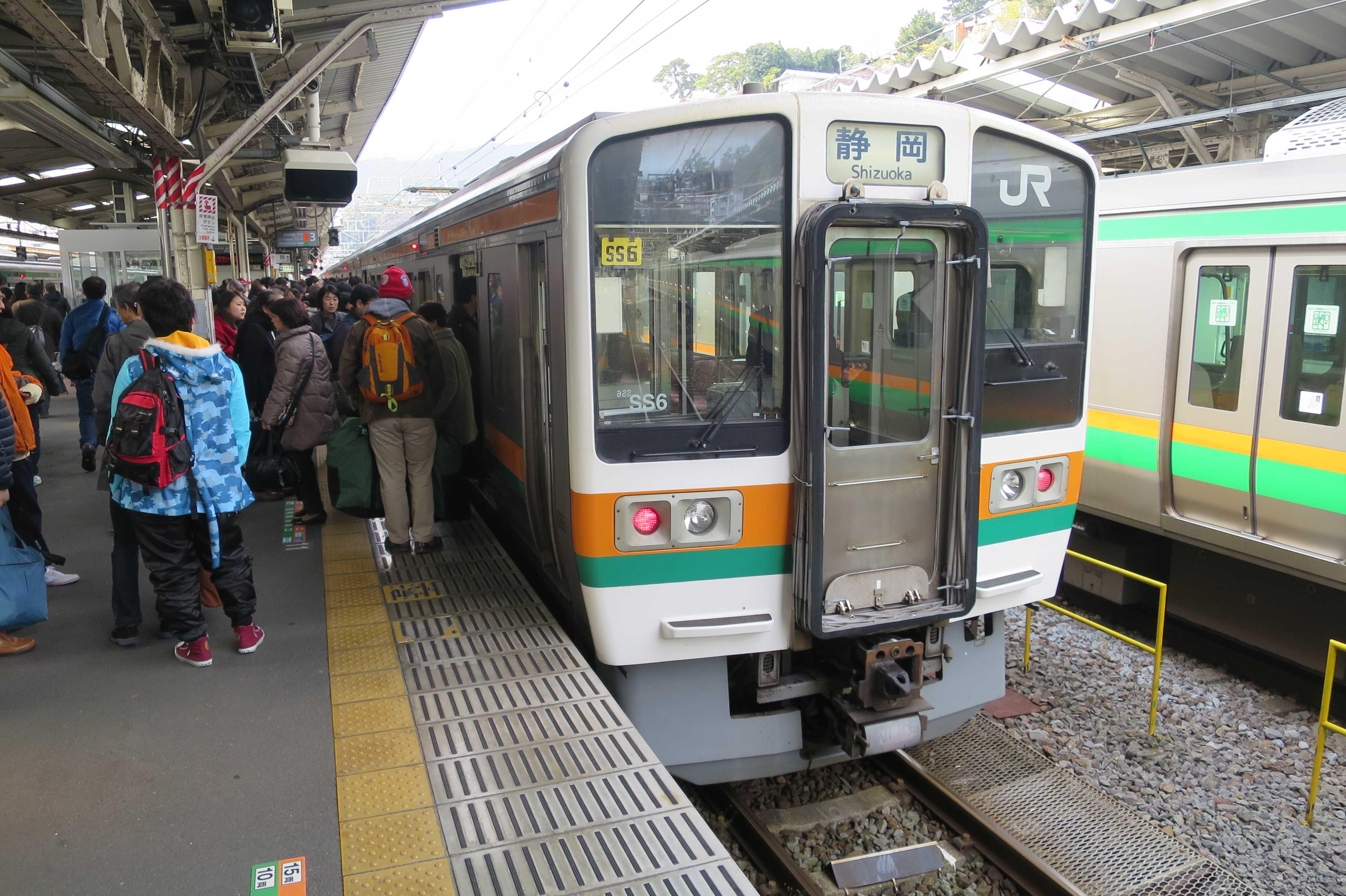 東海道道 - 熱海発、静岡行き