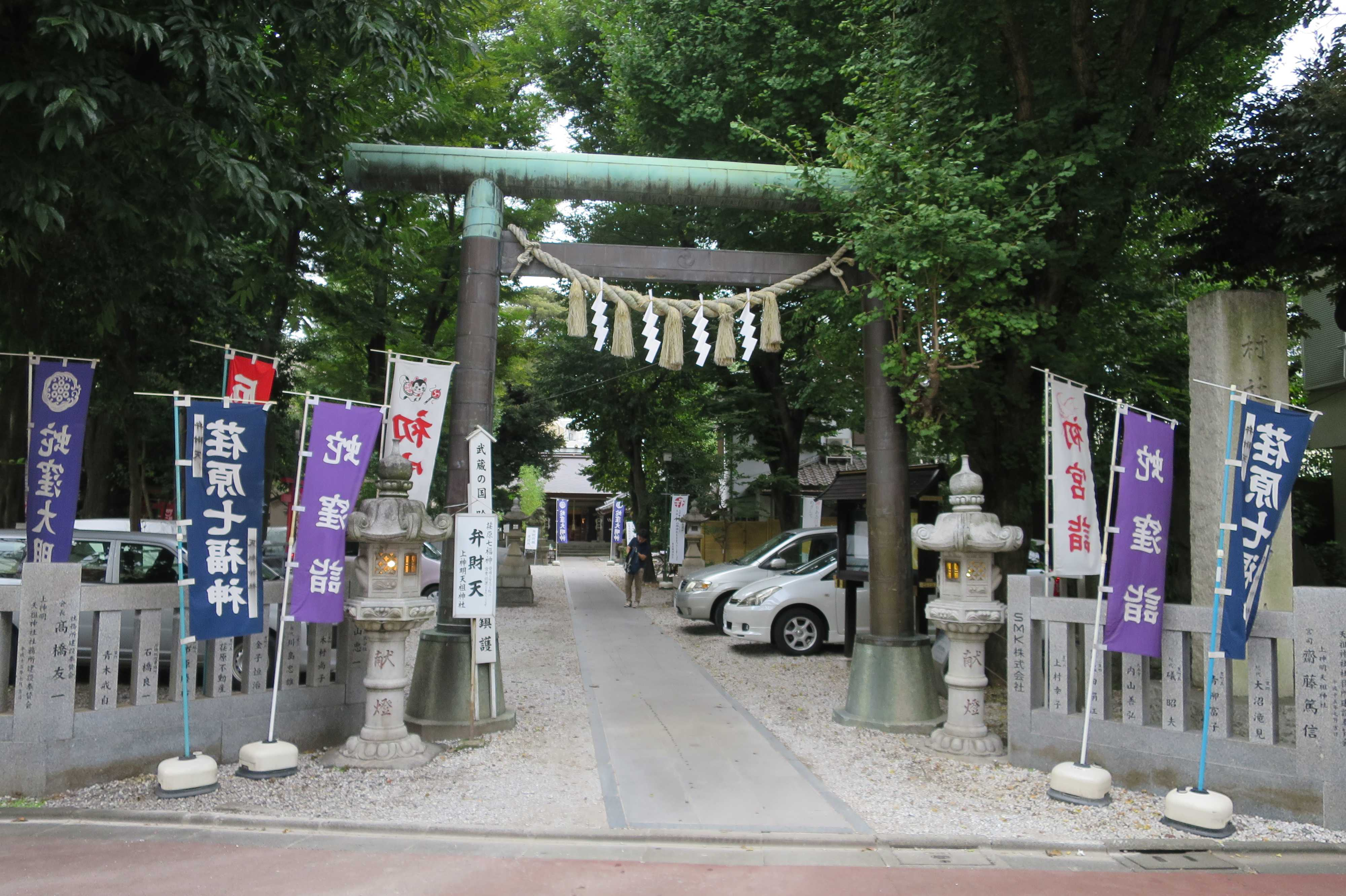 蛇窪大明神(上神明天祖神社)の鳥居
