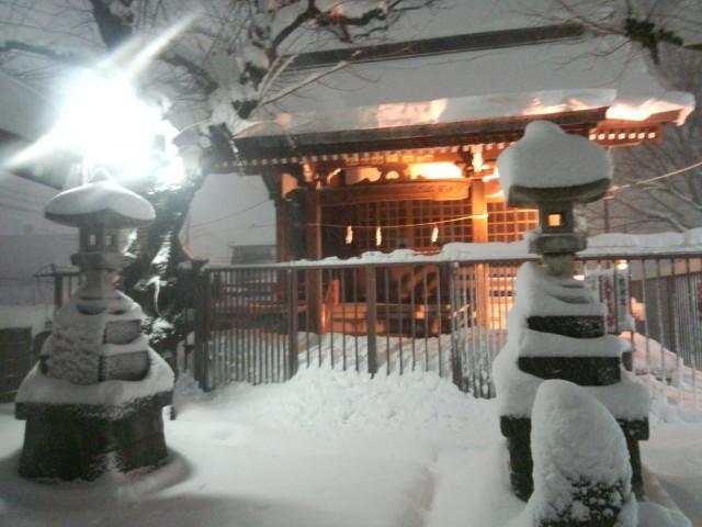 大雪の日の永福稲荷神社