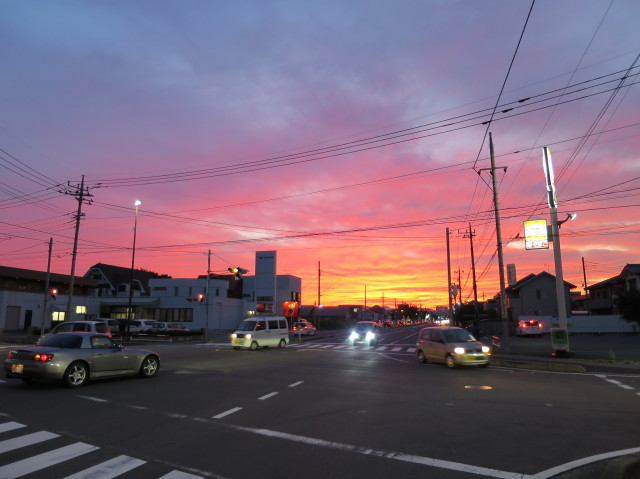 群馬県高崎市の夕焼け
