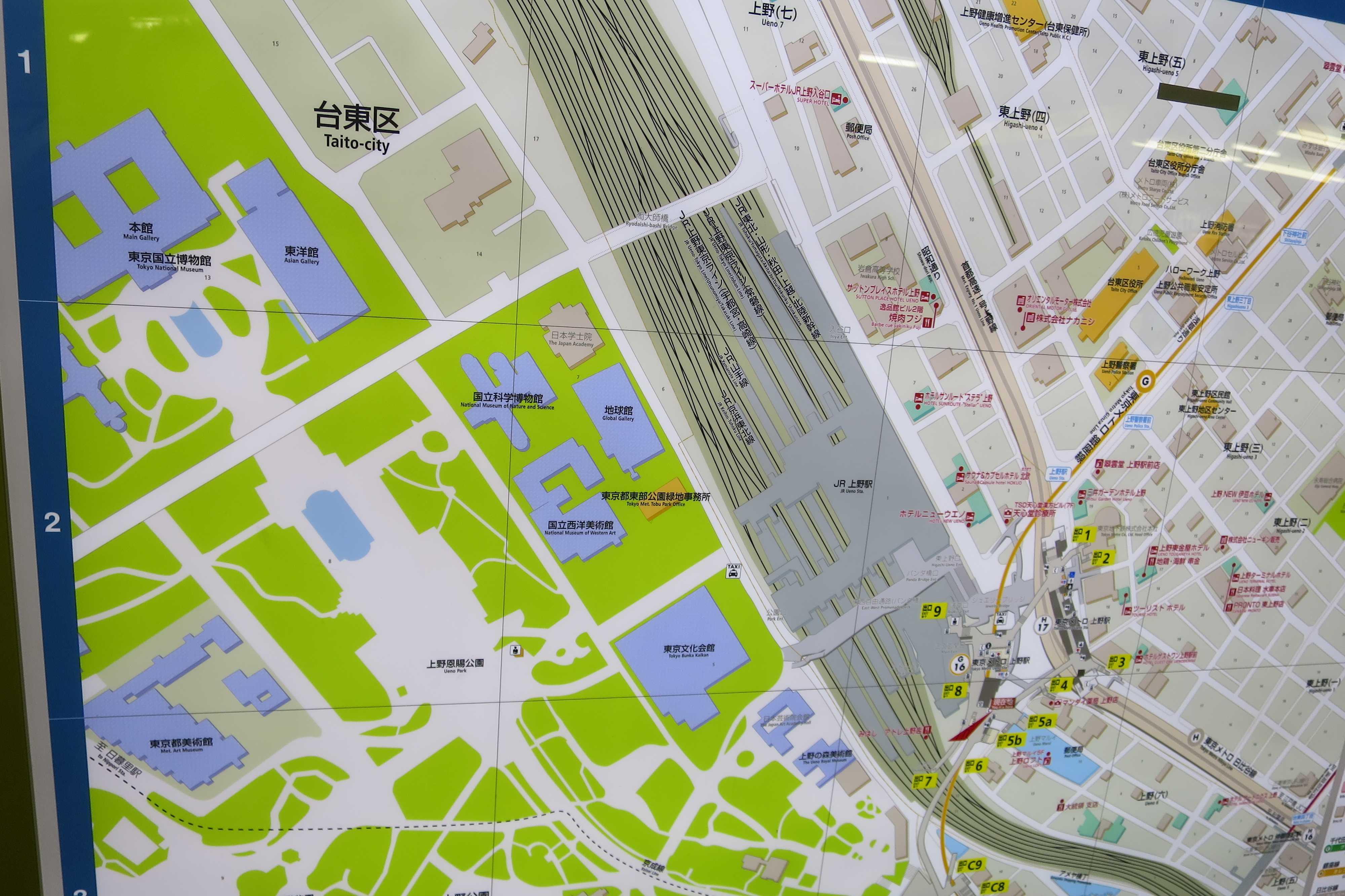 都営浅草線上野駅の地図