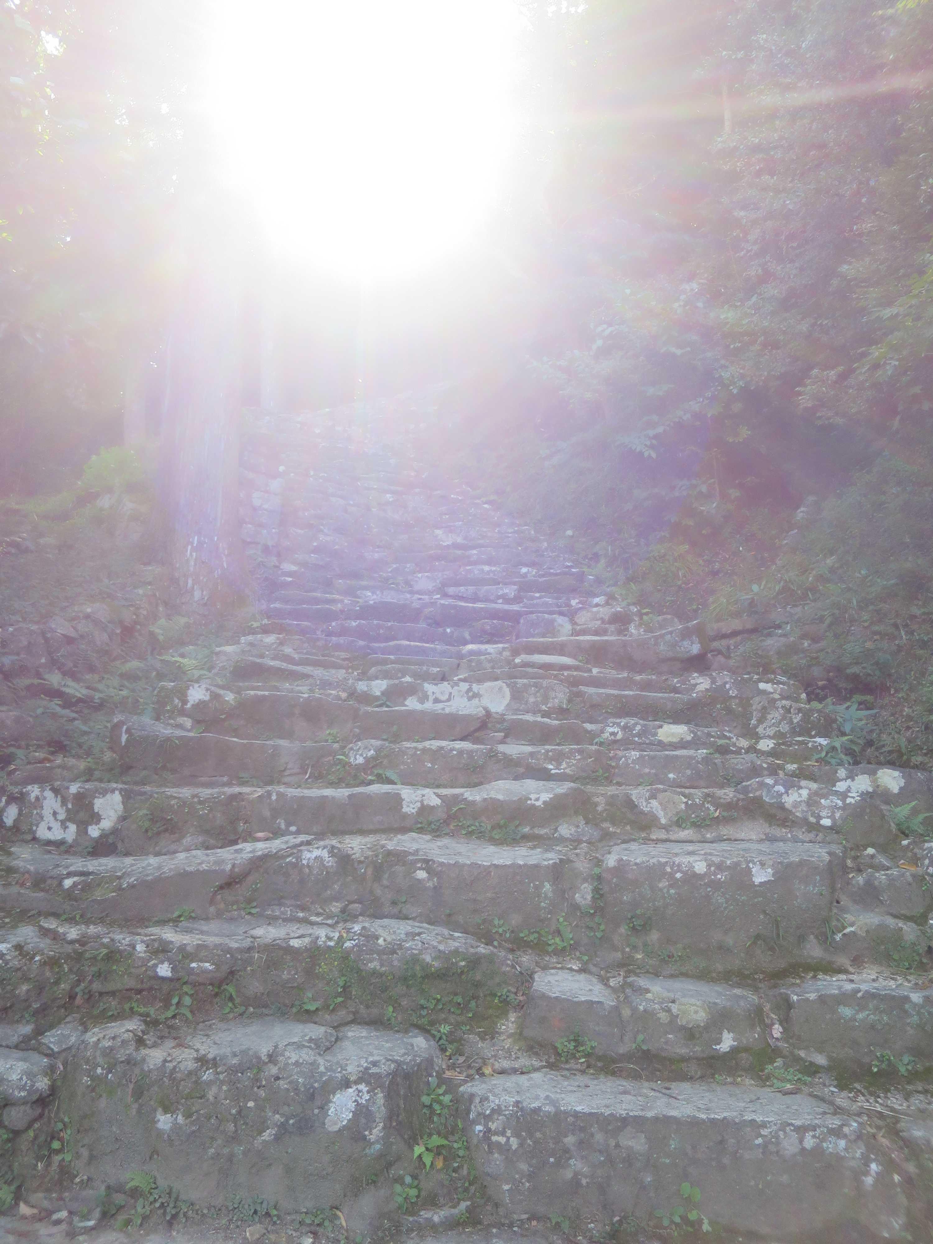 熊野古道: 神倉神社(神倉山)の鎌倉式石段