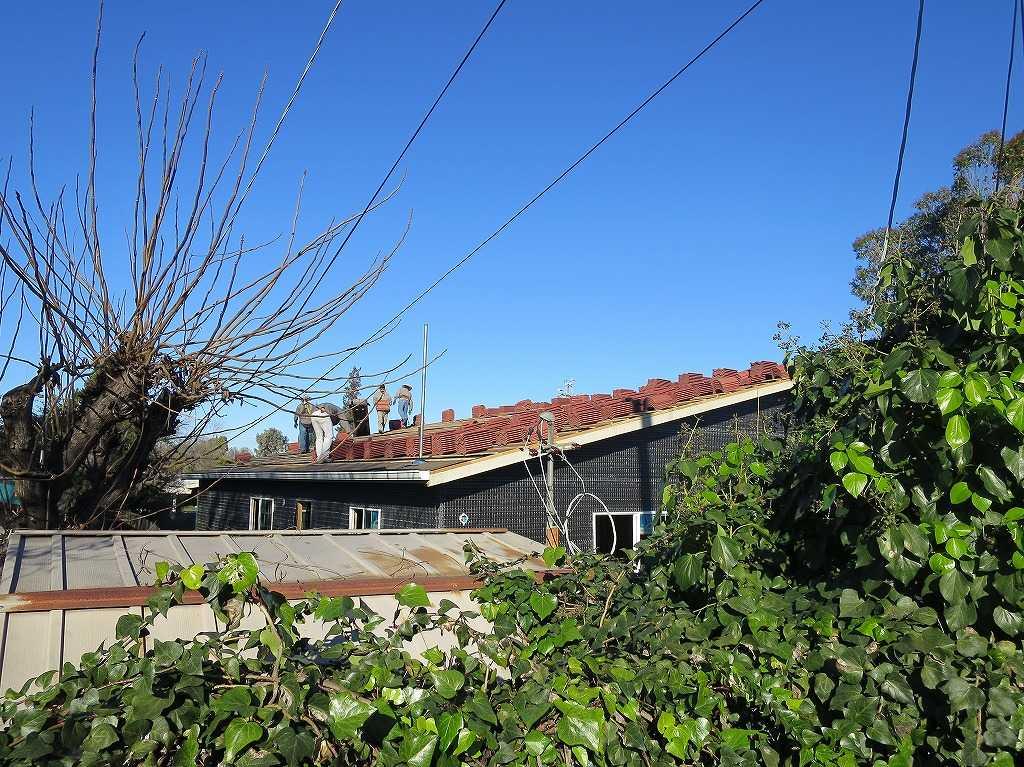 クパチーノ: 屋根をつくっているところ