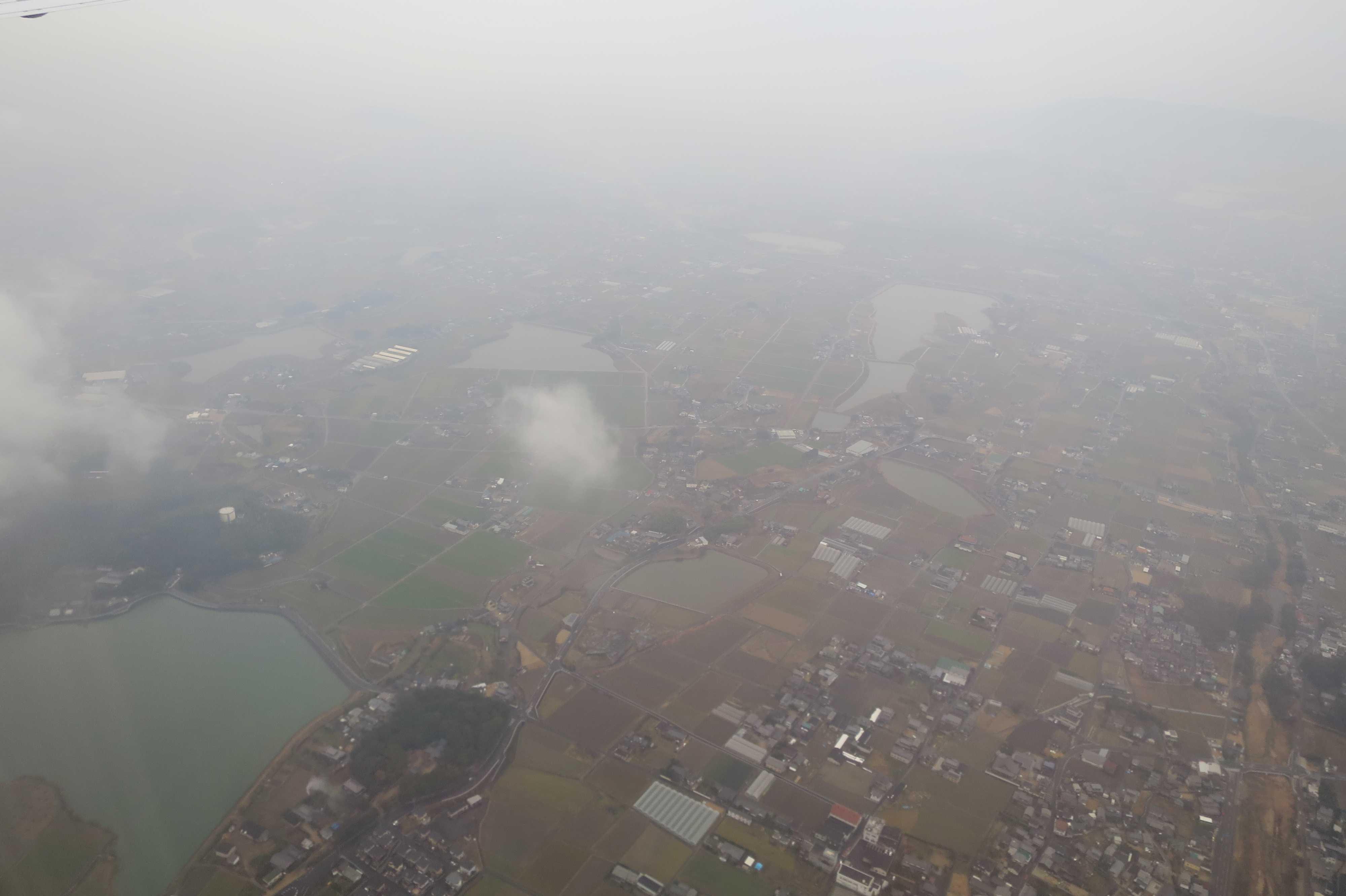 香川県上空 - 大小の池