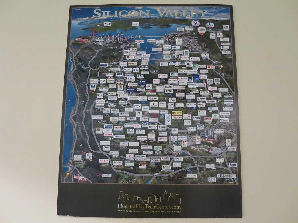 プラグ・アンド・プレイ テックセンター - シリコンバレーの地図