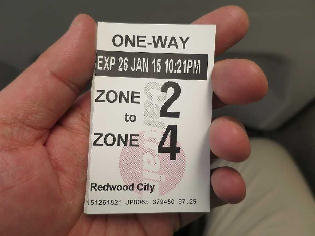 レッドウッドシティ - カルトレインのチケット
