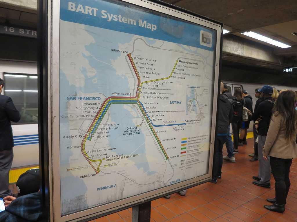 BART/バートの路線図(マップ)