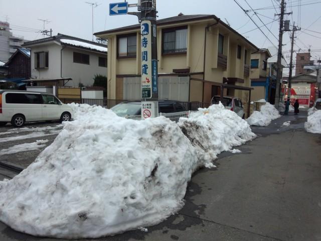 残雪 - 八王子市内