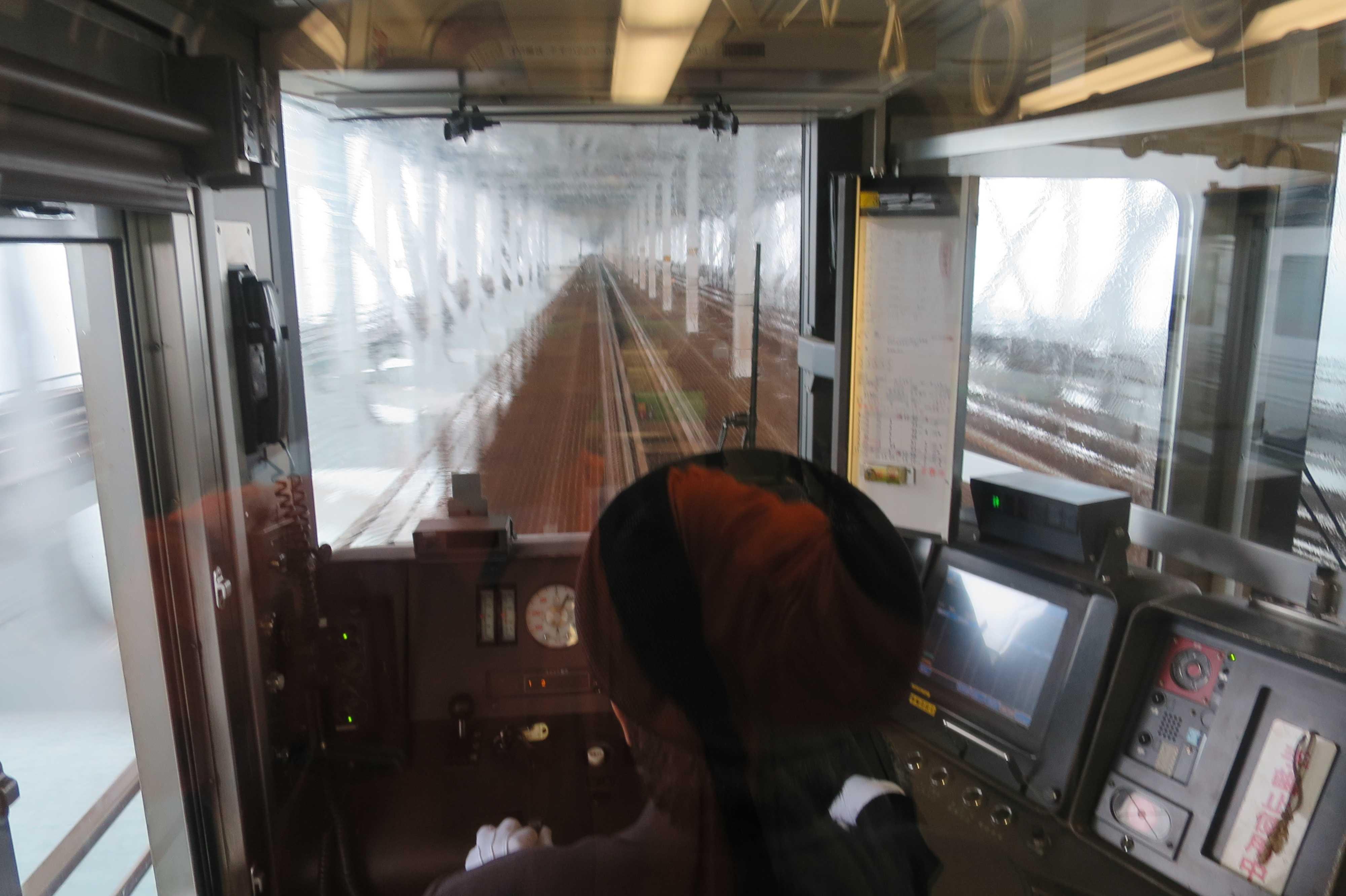 マリンライナー運転席から見えた瀬戸大橋の内側