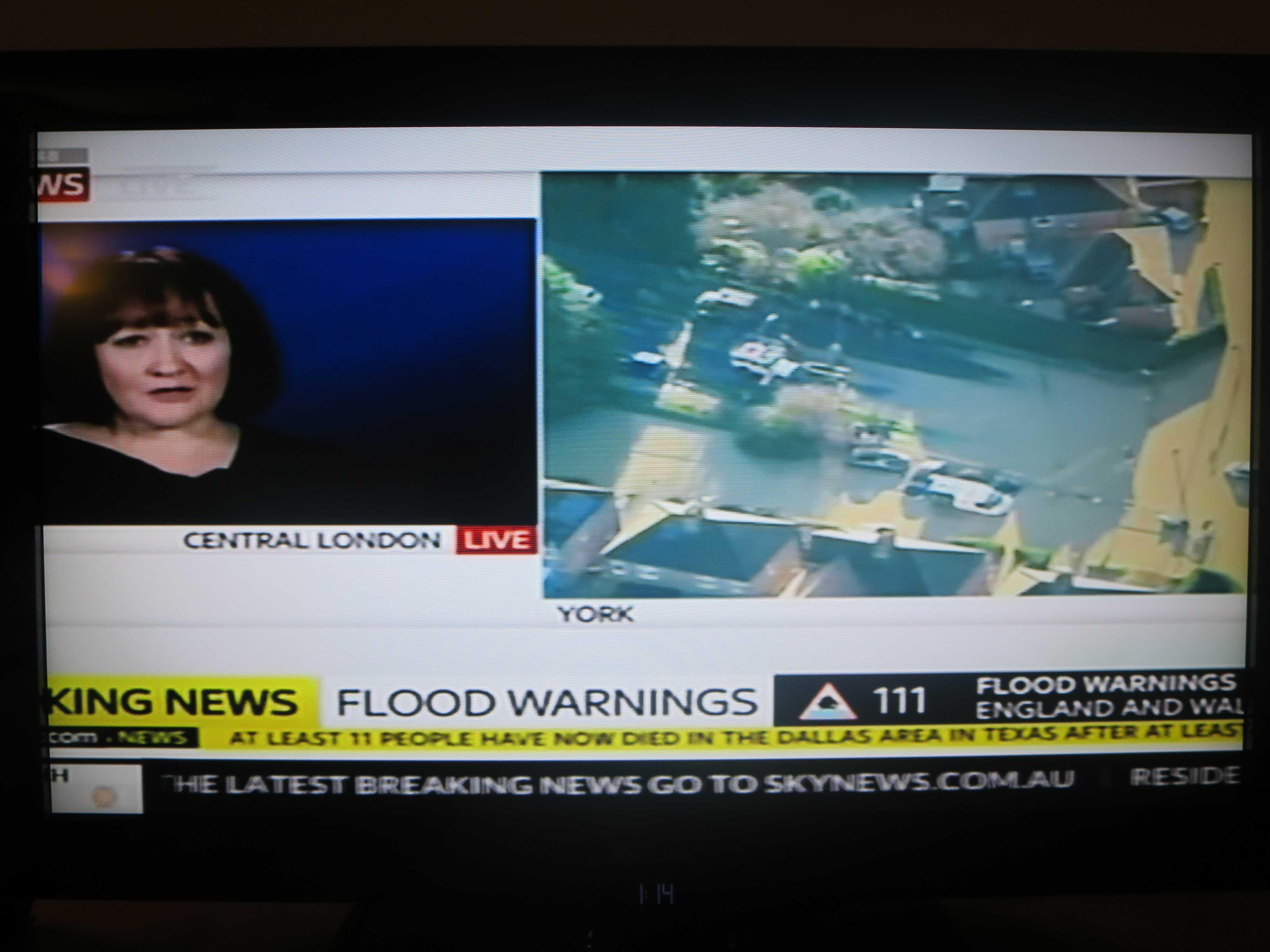 イングランドとウェールズの洪水被害
