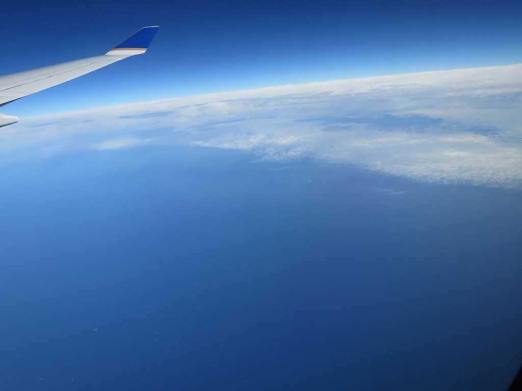 飛行機から撮った写真