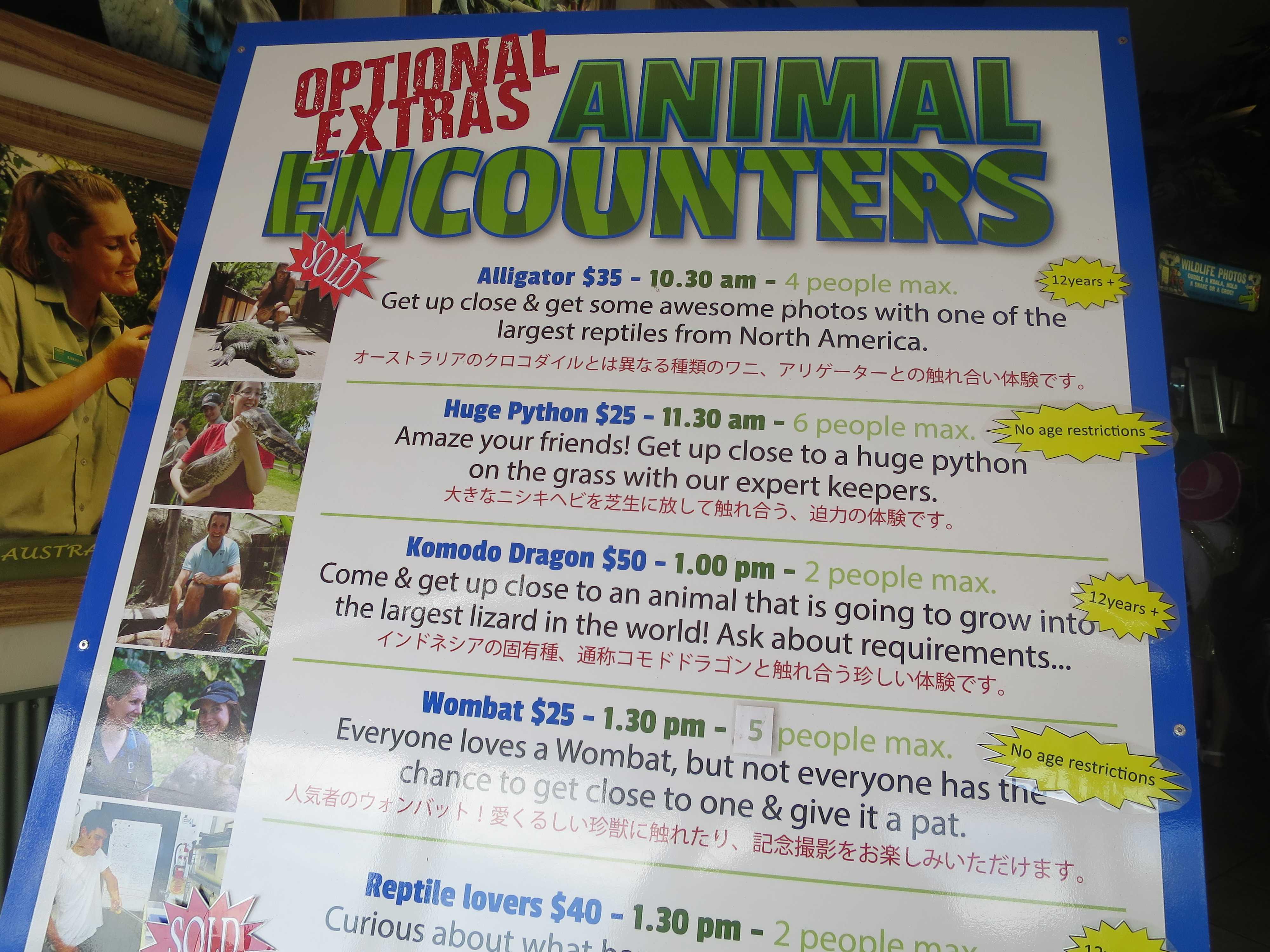ANIMAL ENCOUNTERS(動物との出会い)