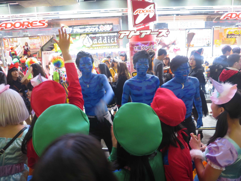 渋谷ハロウィン - 青い男