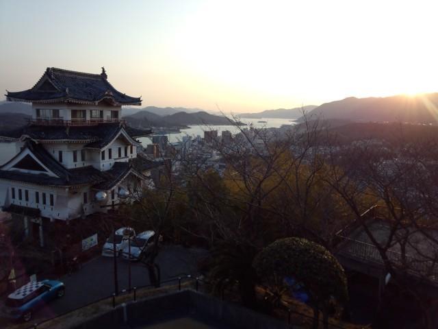 尾道城近くの展望台からの景色