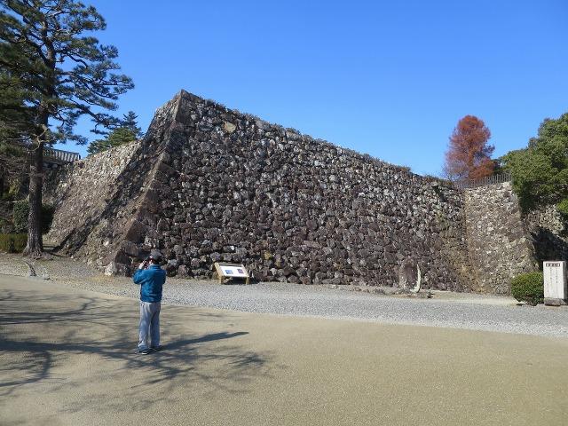 高知城の見事な石垣