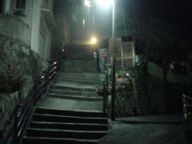 尾道ビュウホテルセイザンへの階段