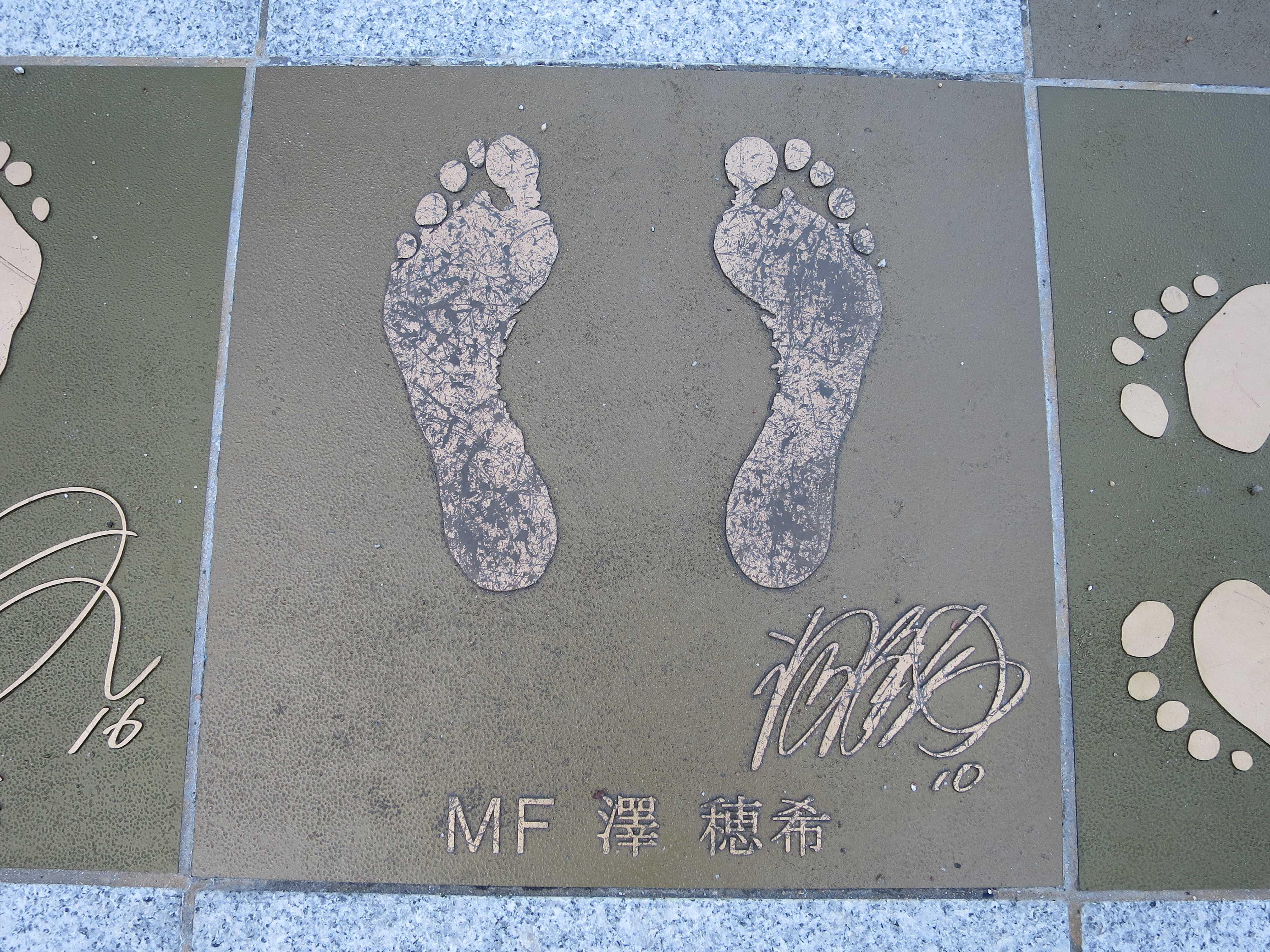 2011年度 FIFA女子最優秀選手賞受賞、なでしこジャパン MF 澤 穂希の足形