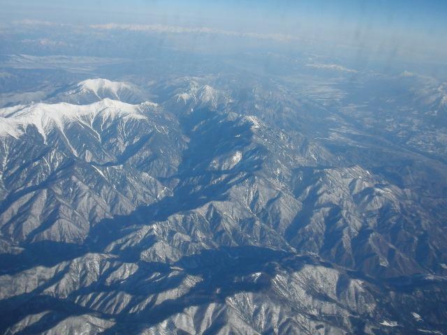 飛行機からの上空写真