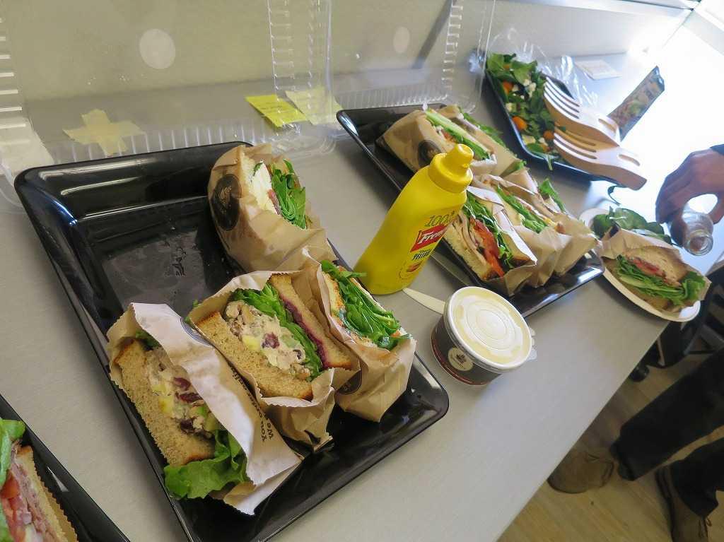 サニーベール: ワークショップのお昼(サンドイッチ)