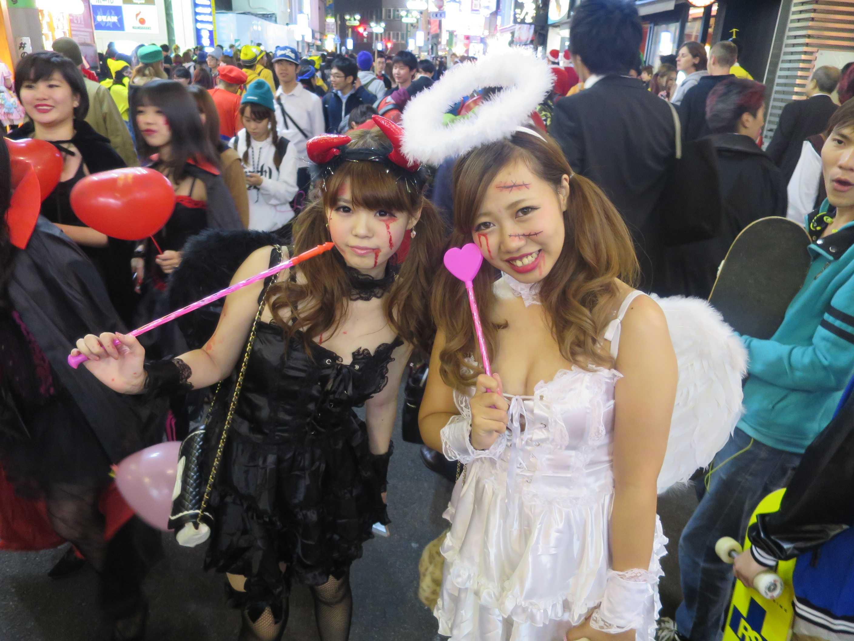 渋谷ハロウィン - 天使の輪