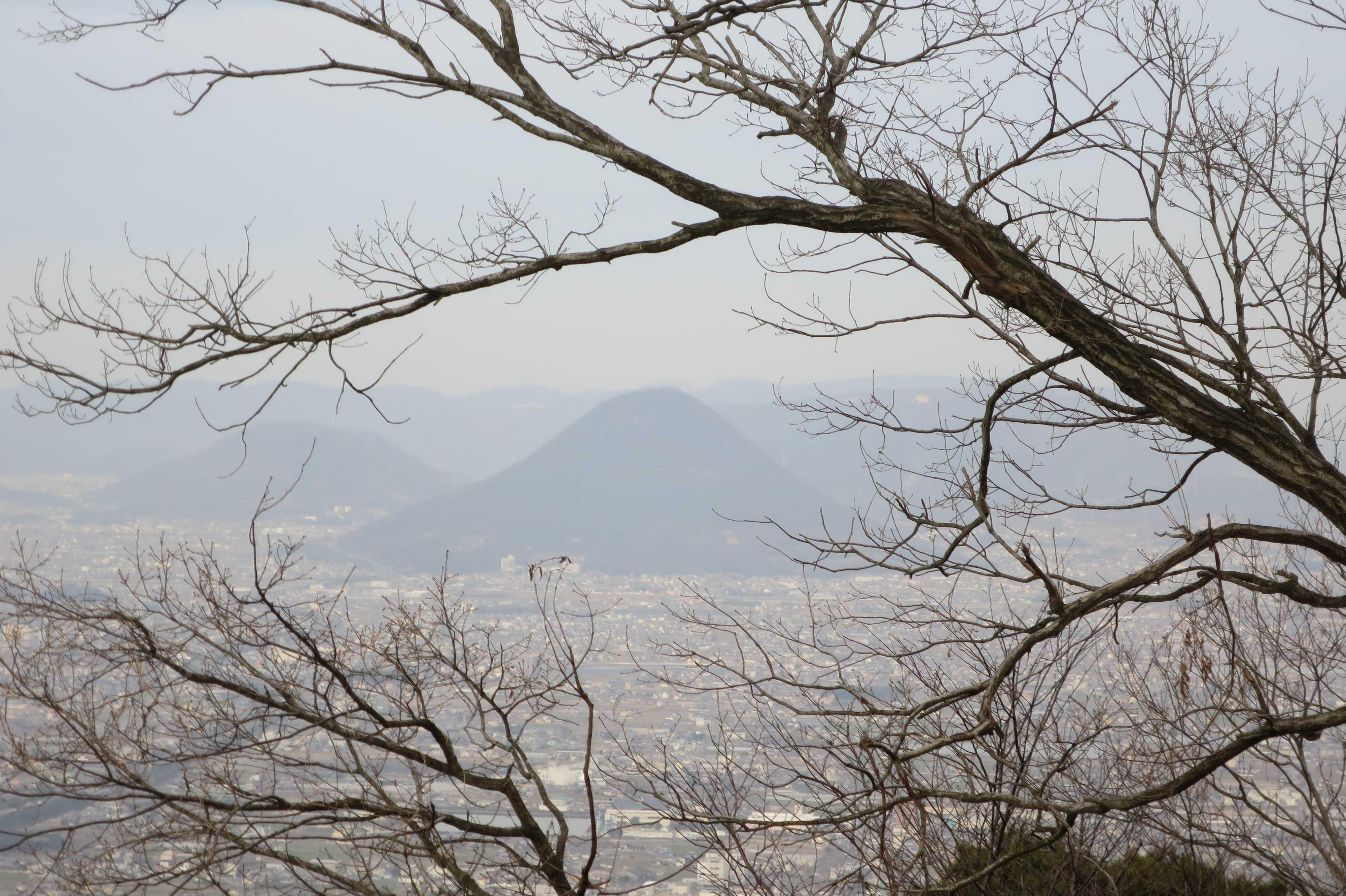 我拝師山頂上から見えた讃岐富士(飯野山)