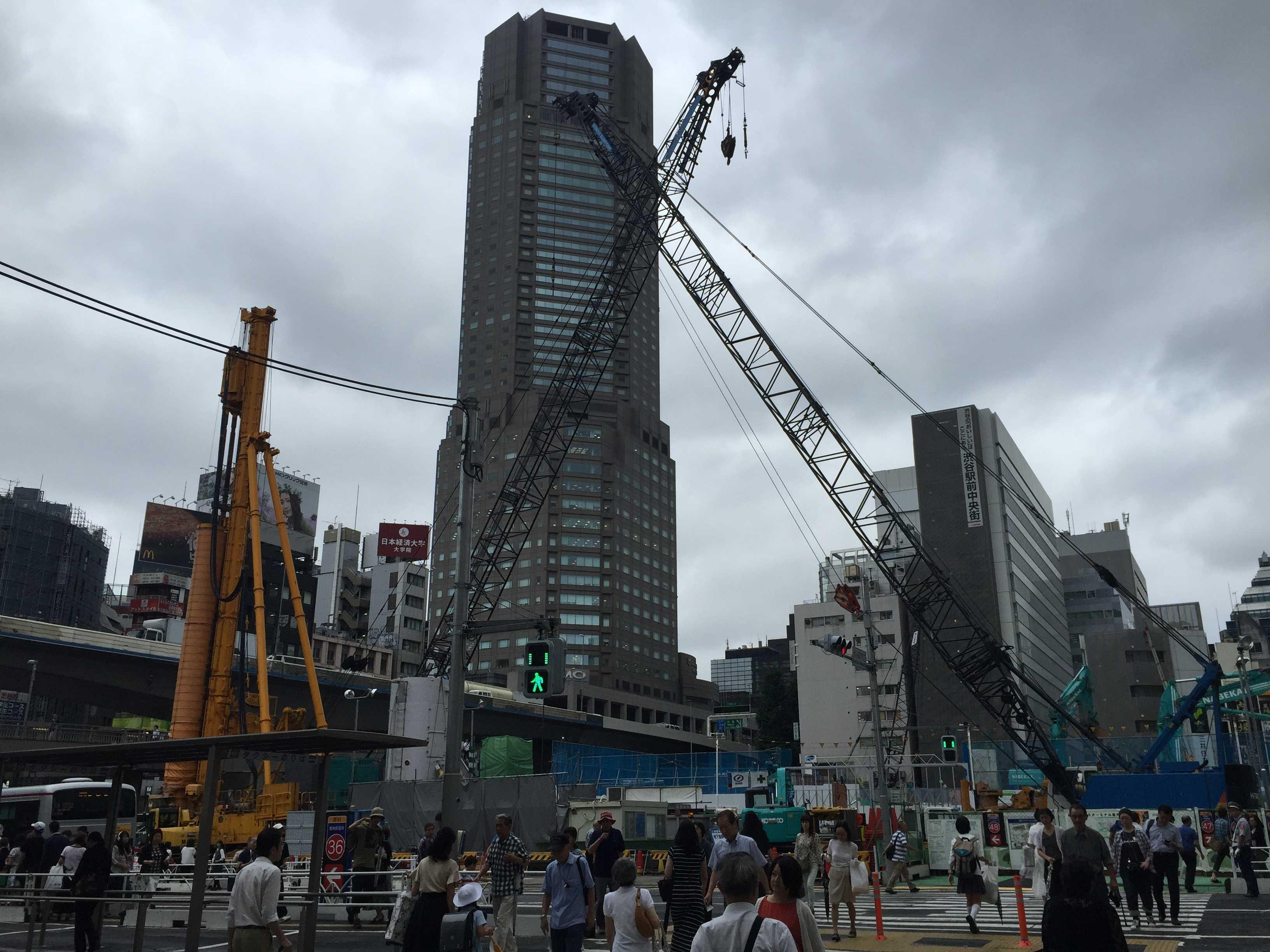 渋谷駅前から見たセルリアンタワー