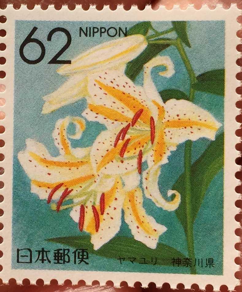ヤマユリの切手 - ふるさと切手・都道府県の花 - 神奈川県