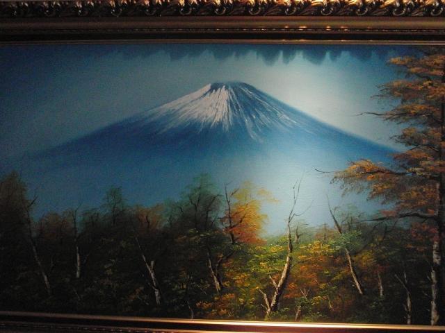 越後のお宿 いなもとの通路の壁に掛っていた富士山の額縁