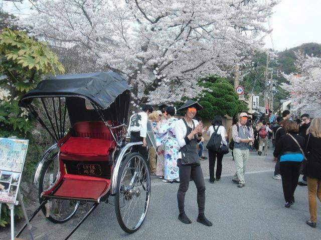 銀閣寺前の人力車