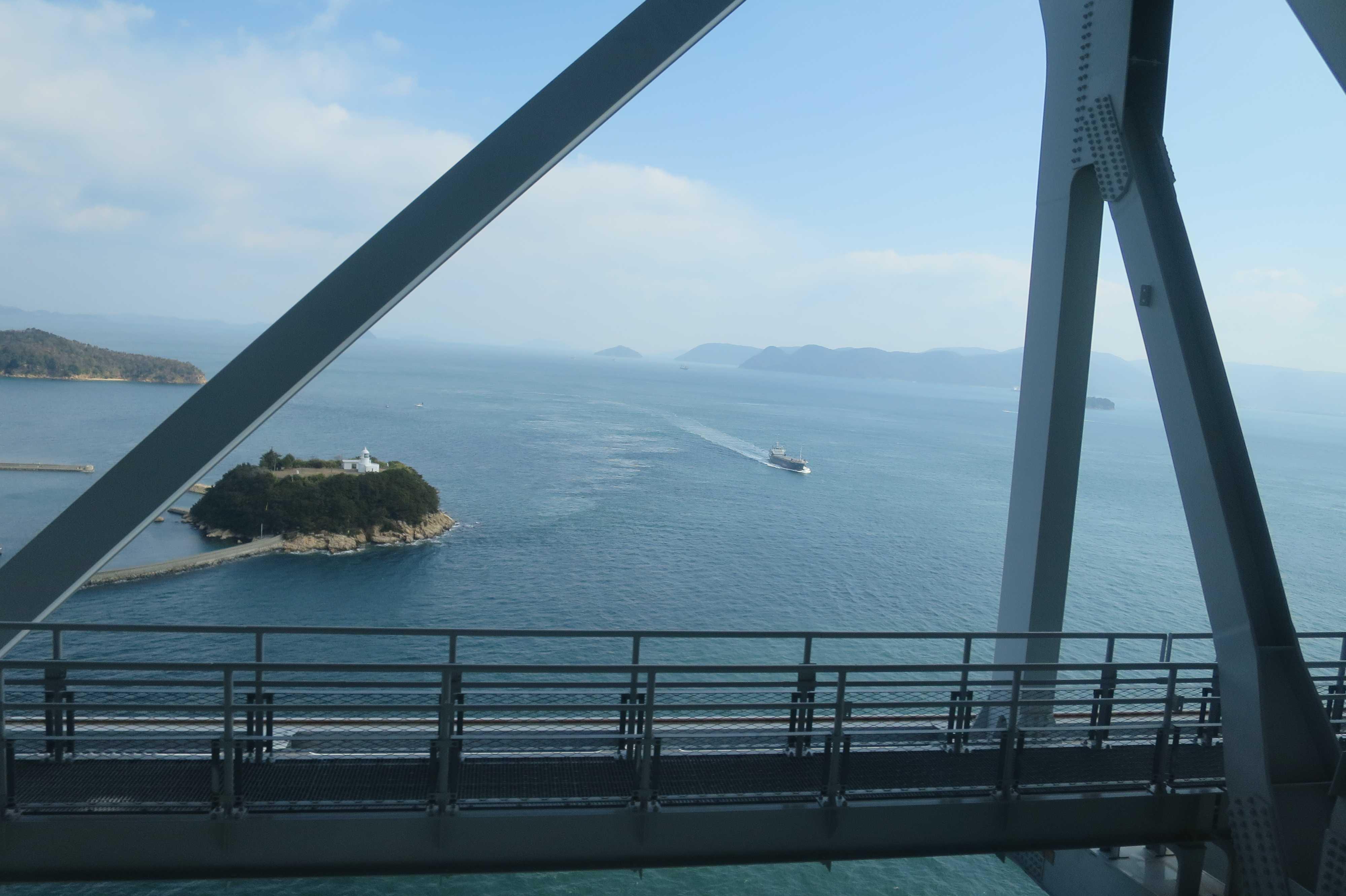 与島を通過した辺り