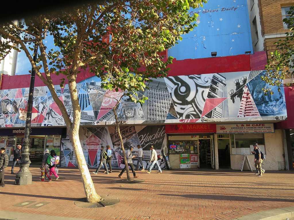 サンフランシスコ - マーケット・ストリート沿いの店