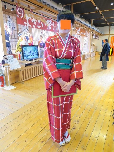 龍馬の妻・お龍(おりょう/楢崎龍)に扮した観光案内所の女性