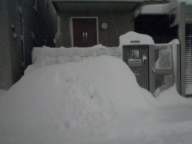 大雪と玄関