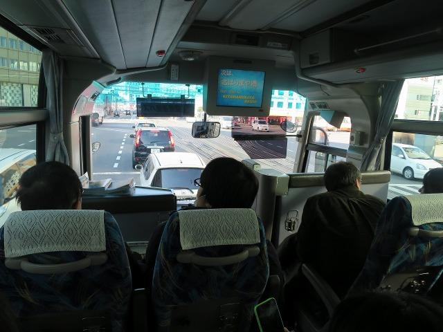 高知空港連絡バスの車内(車窓)
