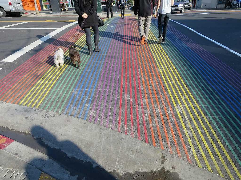 カストロの虹色横断歩道