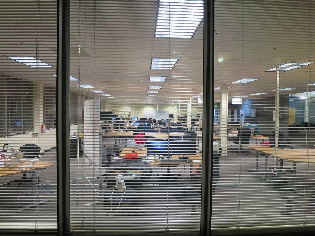 レッドウッドシティーのベンチャー企業のオフィス